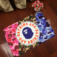 Carpet Bape Cartoons Black Bathroom Bedroom Anti-skid Mat [9599996551]