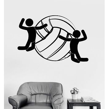Vinyl Wall Decal Volleyball Ball Sports Player Fan Stickers Mural Unique Gift (ig3338)