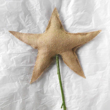 Star Tree Topper, Christmas Tree Topper, Burlap Tree Topper, Rustic Tree Topper, Christmas Tree Topper Star, Tree Star, tree topper star