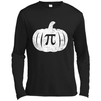 Pumpkin Pi T-Shirt Funny Halloween Pumpkin Pun Humor Long Sleeve Moisture Absorbing Shirt