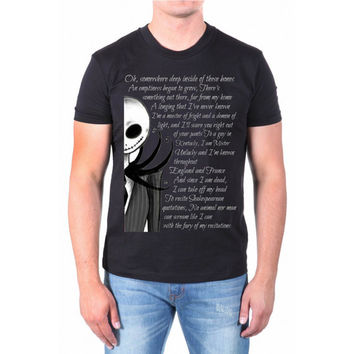 jack and sally  quote disney nightmare before chrismast for men t shirt --- size S,M,L,XL,2XL,3XL,4XL print tshirt