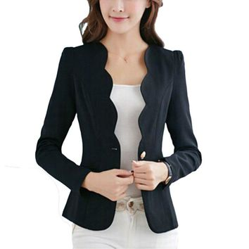 Women Autumn Fashion Blazers 4 Colors Slim Fit Blazer Jackets Long Sleeves Business Blazer