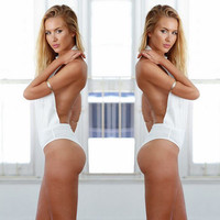 Halter Backless Front Cut Monokini