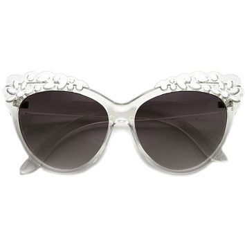 Women's Cat Eye Lace Pattern Festival Sunglasses 9969