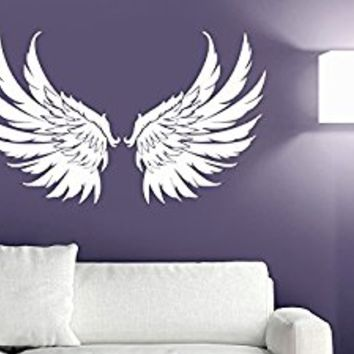Wall Decal Vinyl Sticker Decals Art Decor Design Big Wings Angel God Guardian Bird Kids Children Nursery Bedroom Living Room (r1154) by CreativeWallDecals