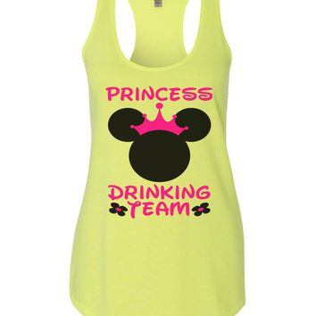 Princess Drinking Team Womens Workout Tank Top