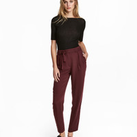 H&M Pants with Tie Belt $29.99