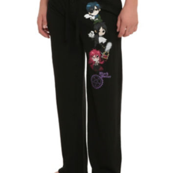 Black Butler Trio Guys Pajama Pants