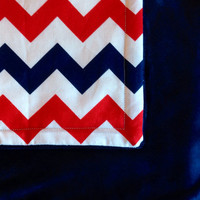Chevron Baby  Toddler minky blanket quilt crib by BlueBearDesigns