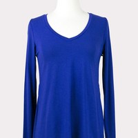 Side Slit Tee in Electric