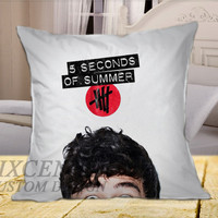Calum 5SOS Cover on Square Pillow Cover