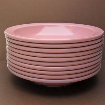 Dallas Ware Bowls Pink Melamine Melmac Soup Salad Bowls 10 Available Mid Century Kitchen