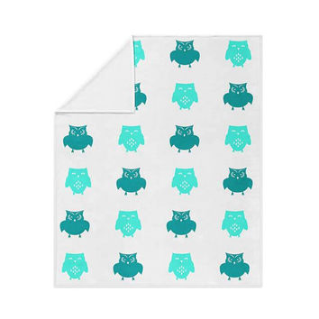 Owls Pattern Fleece Blanket