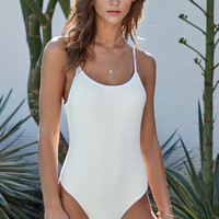 Mandalynn Joey Solid One Piece Swimsuit at PacSun.com