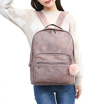 2017 ladies backpack bags women school bagpacks for teenage girls PU Leather Cute Travel Back Pack Sac a dos femme multifunction