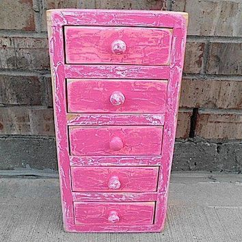 pRiSsY pInK Vintage Upcycled Apothecary by timelessNchic