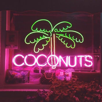 Coconuts Neon Sign Real Neon Light