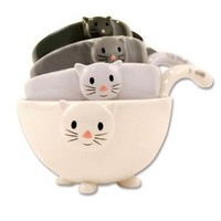 1 X Ceramic Cat Measuring Cups/ Baking Bowls