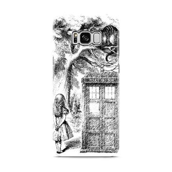 Alice In Wonderland and Cat doctor who box Samsung Galaxy S8 | Galaxy S8 Plus Case