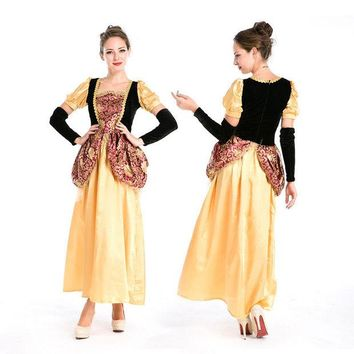 DCCK0OQ On Sale Hot Deal Princess Costume Palace Halloween Party Cosplay Custome [8978979399]