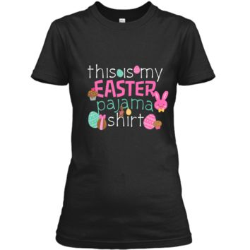 Easter Bunny Cute Pajama T-Shirt PJ Top Girls Sleep Gift Ladies Custom