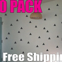 TRIANGLES - 30 wall vinyl decal stickers cute room decor - 4 inches wide - Free Shipping