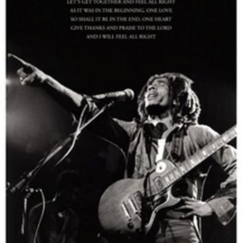 Bob Marley One Love Lyrics Poster Print (24 x 36)