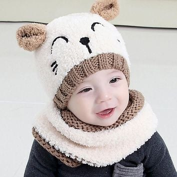 8a8573ec628a Adorable Hotest Toddler Infant Baby Girls Boys Warm Hat Winter H