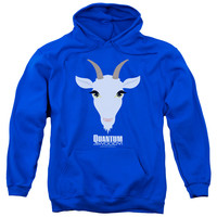 QUANTUM AND WOODY/GOAT HEAD-ADULT PULL-OVER HOODIE-ROYAL BLUE