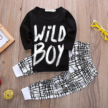 Clothing Sets, boy sleeve + pants 2pcs sport set