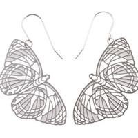 Polli Stainless Steel Butterfly Earrings (Large)