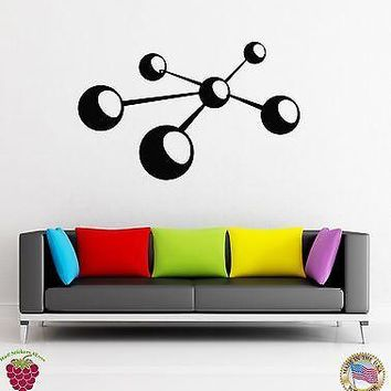 Wall Stickers Vinyl Decal Atoms Symbol Abstract Modern Decor  Unique Gift (z1860)
