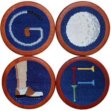 Golf Coasters in Blue by Smathers & Branson
