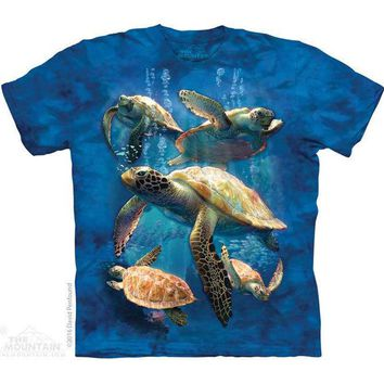 New SEA TURTLE FAMILY YOUTH CHILD  T SHIRT -