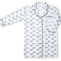 Leopard Nightshirt, Powder Blue, Pajamas