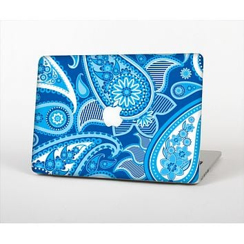 "The Vibrant Blue Paisley Design Skin Set for the Apple MacBook Pro 13"" with Retina Display"