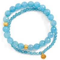 Women's Satya Jewelry Beaded Stretch Bracelets (Set of 2)