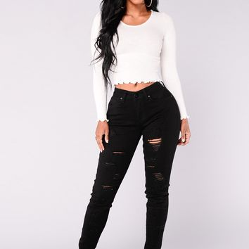 Charged Up Skinny Jeans - Black
