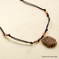 Mens Choker-Natural Stone And Leather