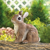 Realistic Sitting Rabbit Garden Decor