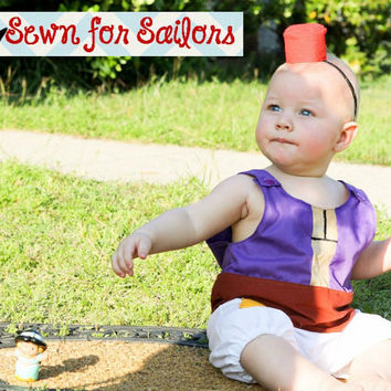 Disney's Aladdin inspired baby boys jonjon/ costume/ outfit/ clothes sizes 1,2,3,4
