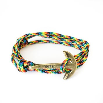 The Bronze Hope Anchor Bracelet on Galaxy Rope