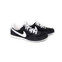 NIKE black and white eclipse - basic casual sneakers - suede - 324857-011 - athletic - womens nikes size 6