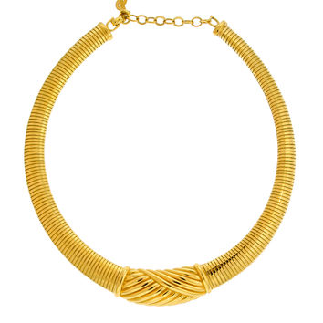 Christian Dior Gold Omega Choker Necklace