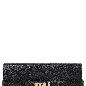 Buckle Detail Purse in Black