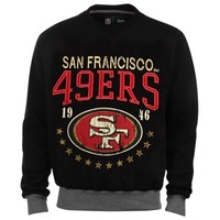 San Francisco 49ers Big Time Crew Neck Sweatshirt - Black