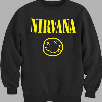 nirvana pocket logo Sweater for Mens Sweater and Womens Sweater *