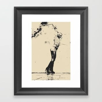 Slave girl BDSM Bondage Framed Art Print by Peter Reiss
