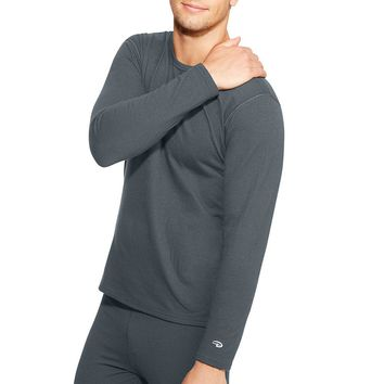Duofold by Champion Varitherm Men's Long-Sleeve Thermal Shirt Style: KEW1-Thundering Grey M
