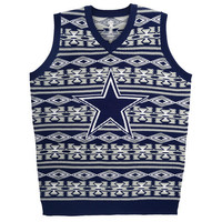 Dallas Cowboys Official NFL Men's Aztec Sweater Vest by Klew